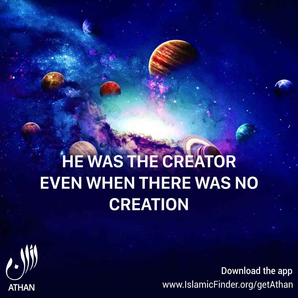 Allah is the creator of everything