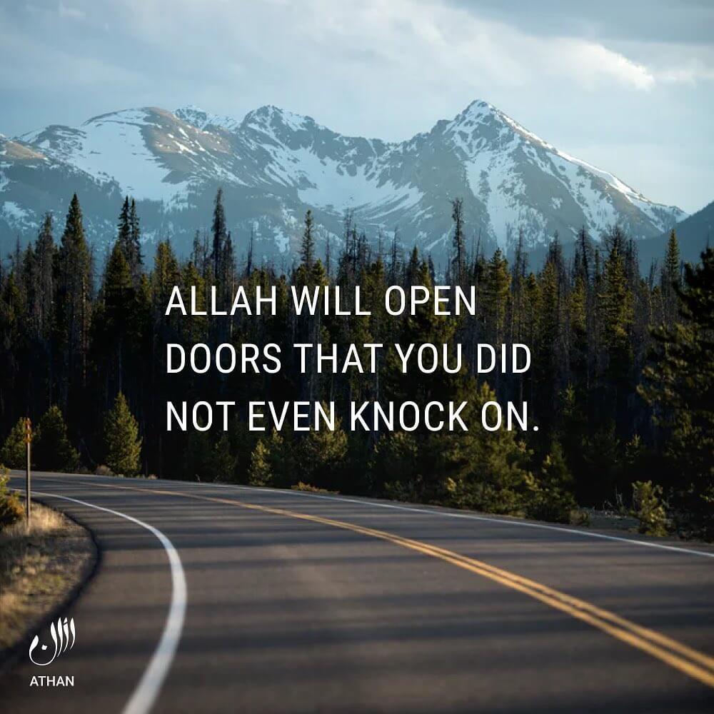Allah will open doors