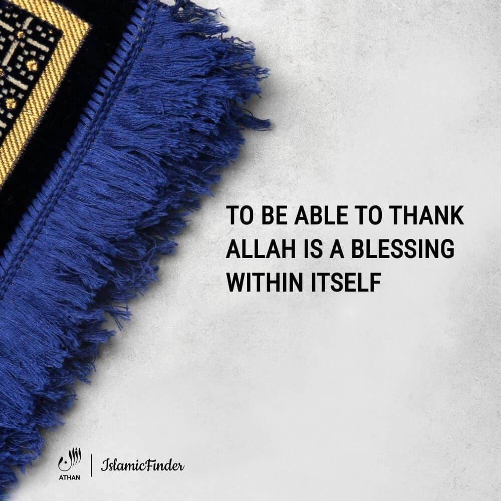 Always thank Allah