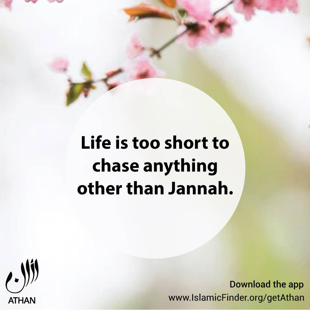 Don't just dream, work for Jannah
