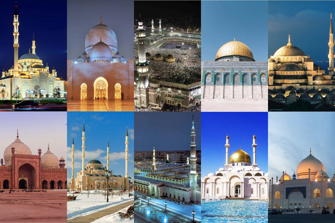Pictures of famous mosques in the world with names